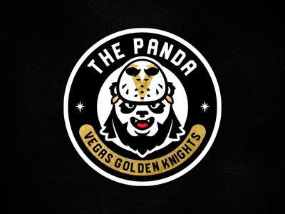 The Panda // Apparel Logo goalie panda logo matt mcelroy robin lehner robin lehner apparel sports vector illustration branding logo nhl hockey panda