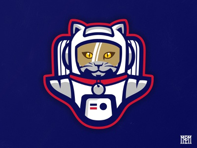 Meowstronauts II animal cat logo space force usa spacex space suit astronaut rebound