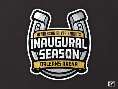 HSK Inaugural Season inaugural season logo inaugural season logo patch sports branding sports logos illustration ahl branding logo sports nhl hockey