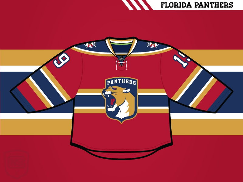 buy online 17223 8187a Florida Panthers (Home) by Matthew McElroy on Dribbble