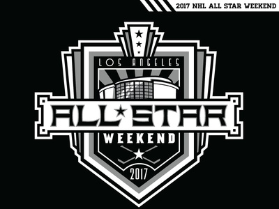 Los Angeles All Star Weekend staples center art deco all star los angeles mcelroy matt game kings nhl