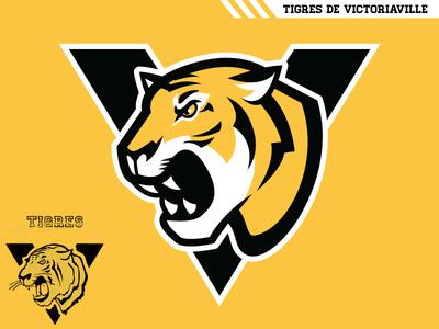 Tigres de Victoriaville qmjhl concept hockey logo tigers