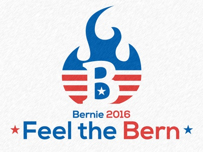 Feel the Bern united states donald trump hilary clinton bernie sanders usa president 2016 election