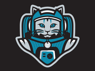 Meowstronaut  nasa space logo cat hockey