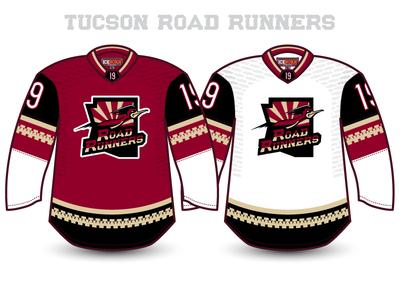 Tucson Road Runners illustration sports ahl coyotes pheonix arizona nhl hockey runners road tucson