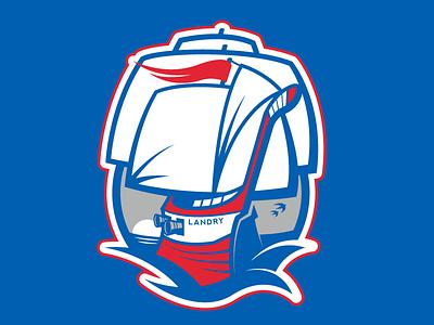 Les Camarades sports logo pirate hockey sports ship boat