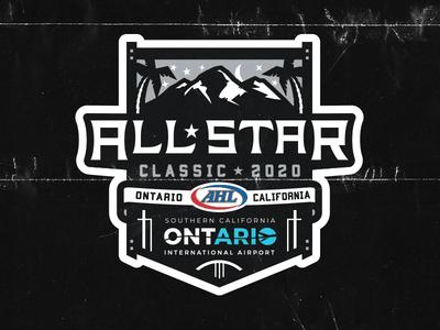 2020 AHL All-Star Logo all-star allstar all star game sports branding sports design illustration matt mcelroy sports logos logo ahl hockey
