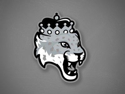 Ontario Reign Concept Logo matt mcelroy illustration sports branding logo design mascot logo king cat leopard snow leopard