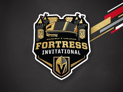 The Fortress Invitational college providence cornell ohio state ncaa illustration branding sports logos matt mcelroy logo sports nhl hockey