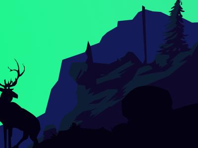 Elk elk forest nature illustration landscape vectors