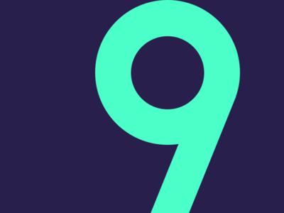 9 typehue challenge number typography 9