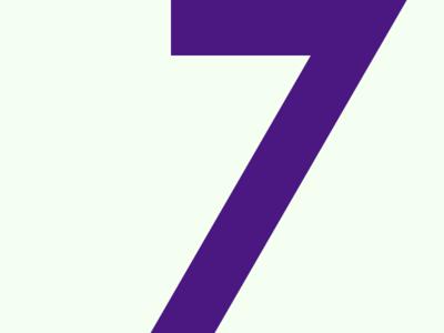 7 typeface typography typehue number challenge 7