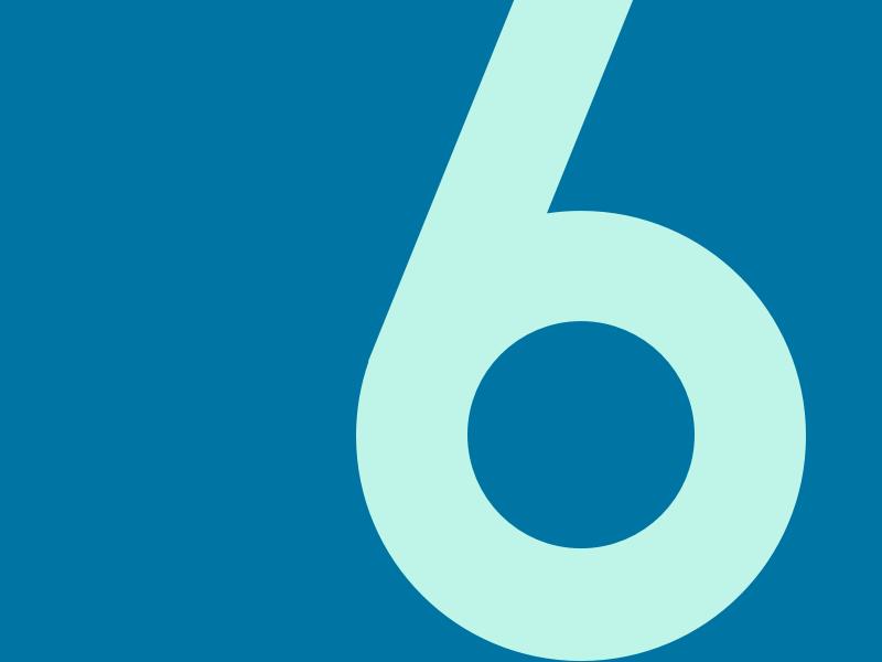 6 typography typehue typeface number challenge 6
