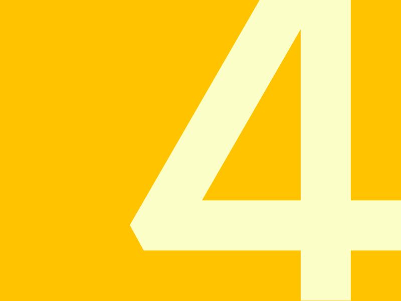 4 typography typehue typeface number challenge 5