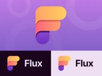 Flux branding logogram logo