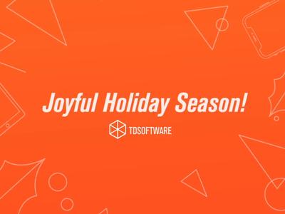 Happy Holidays! thankful christmas holiday flat animation web typography vector illustration