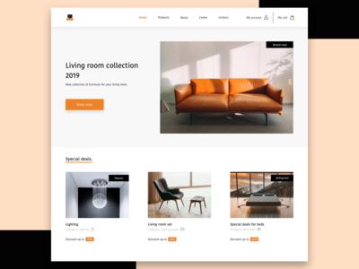 Furniture shop landing page concept