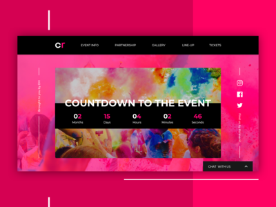 Color Run Event Landing Page Concept