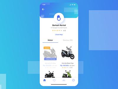 User Profile Motorcycle Rental App branding iphone x rental rental app ux uxdesign motorcycle motorbike app design uidesigns ui  ux uidaily ux designer ui