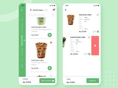 Coffee Ordering App - Fore Coffee (Redesign) redesign mobile app ux design ux ui forecoffee forecoffee design branding app design coffeeshop coffee coffee cup
