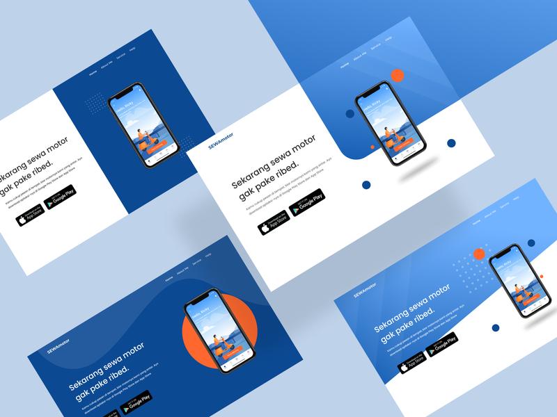 Design Exploration Hero Section Landing Page app uiux icon typography vector flat illustration branding logo design ux ui uxdesign ui design illustration app design