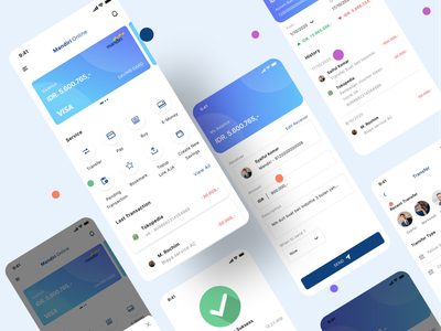 Mobile Banking App - Redesign logo flat illustration branding brand typography ui uxdesign ux ui design illustration app design