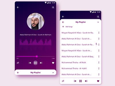UI design music app mobile mockup illustration adobexd sketch xd design uisketch app design graphicdesign islam music uxdesign uiux ui design ui