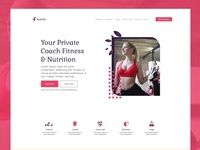 Nutrifit Landing Page/Funnel Adobe Xd  Free Template