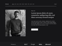 Jensen Resume Landing Page - Free Adobe Xd Template