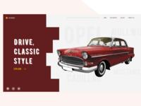 Vintage car web