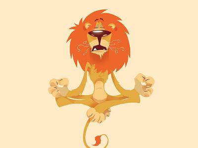 Stop Lion illustration animal orange cartoon lion nestle