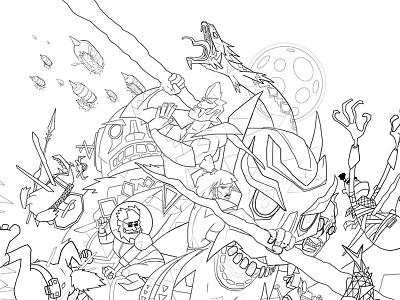 Lichtspeer (sketch) cartoon game poster