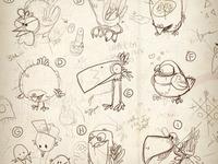 late nite birdie doodlin'