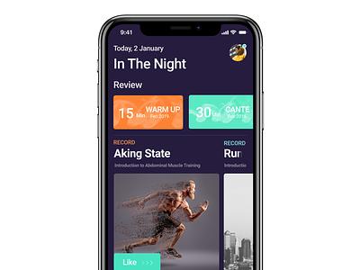 Run - Marathon App Design ux ui design app