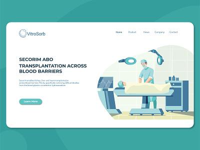 Illustration Homepage Vitrosorb webillustration homepage design flat clean color concept illustration graphic design ui