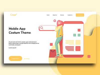 Illustration Landing Page Concept concept color clean minimal web flat design icon vector ui illustration