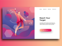illustration landing page Concept