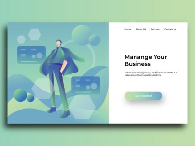 illustration for web landing page concept