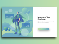 illustration for web landing page concept