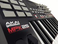 Akai MPK25 - Close up
