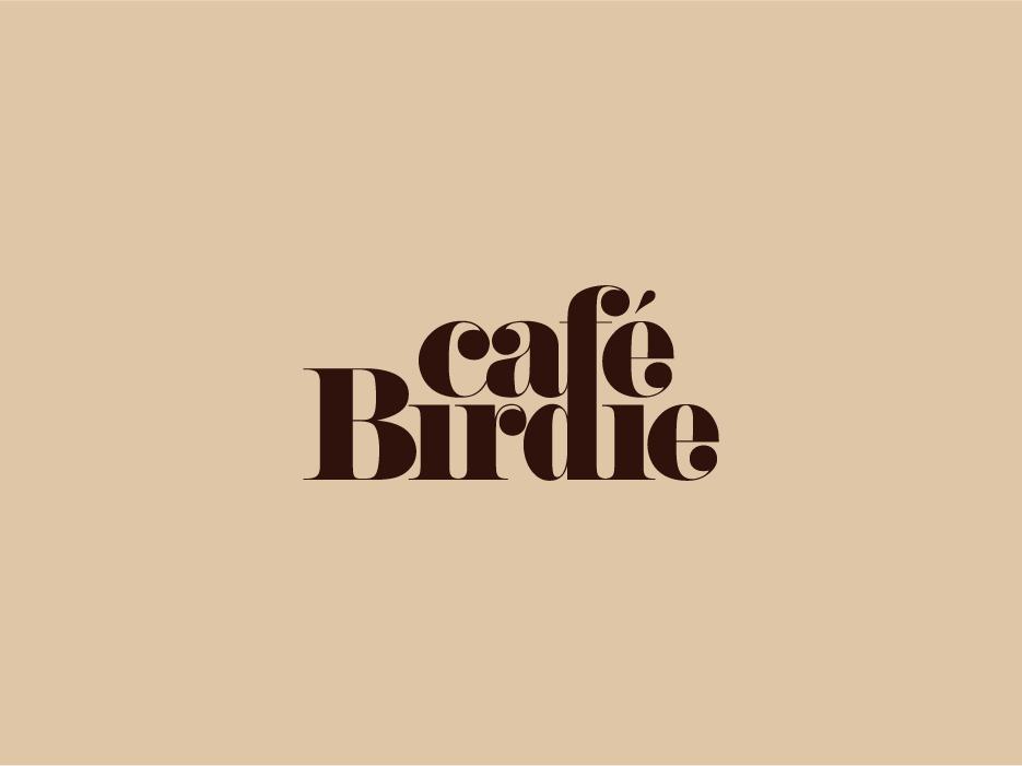 Cafe Birdie branding logo typography