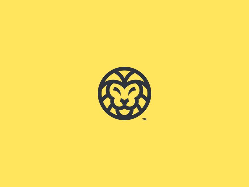 circle_lion_icon design logo vector icon