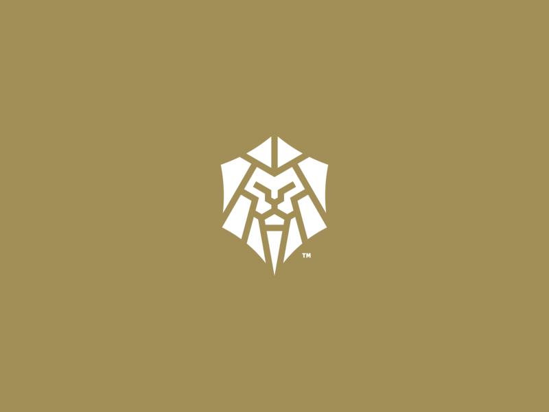 lion mark design branding vector logo icon
