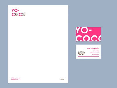 YOCOCO coconut letterhead business card