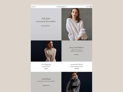 Inhabit2016 1 fashion responsive digital homepage website