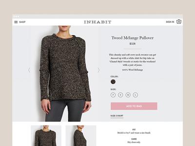 Inhabit 2016 2 website product page digital responsive fashion