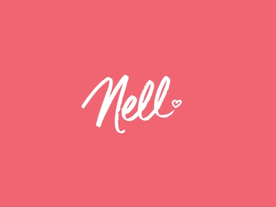 Nell 2 baby heart lettering