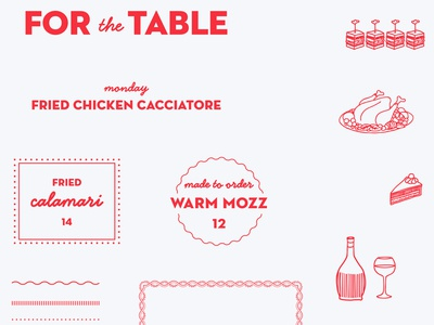 Parm illustration typography italian graphics restaurant