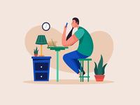 Working Productive cartoon illustrator draw vector flat design design flat illustration flatdesign illustration work