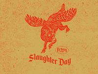 Slaughter Day icon design vintage badge vintage badge flat illustration design flatdesign illustration